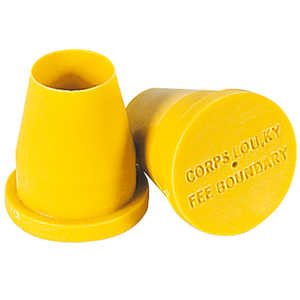 "Permamark Plastic Surveyors' Markers, 3/4"" Plug, Pack of 200"