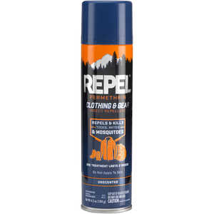 Repel Permethrin Clothing and Gear Insect Repellent, 6.5 oz. Aerosol
