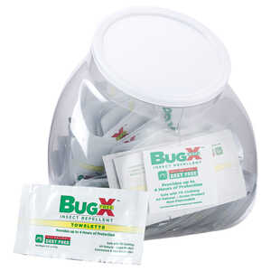 Bug-X FREE Insect Repellent Towelettes, Fish Bowl of 50