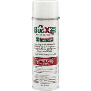 Bug-X 25 Insect Repellent, 25% DEET, 6 oz. Aerosol