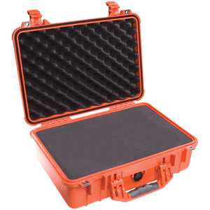 Pelican 1500 Case with Foam Insert, Orange