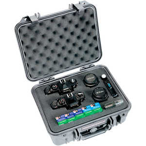 Pelican Case Model 1400 with Foam Insert, Silver-Gray