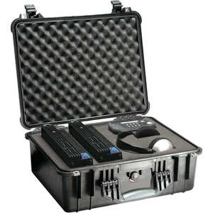 Pelican 1550 Case with Foam Insert, Black