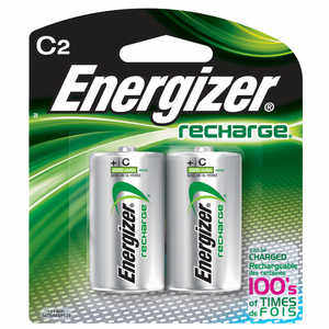 Energizer NiMH Batteries, C Cell, Rechargeable, 2 Pack