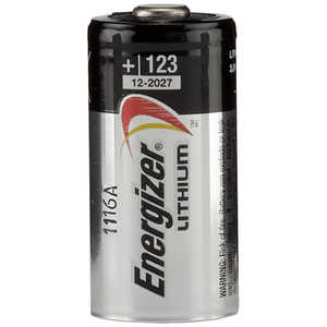 Energizer Lithium Battery, CR123A, 3V, Single