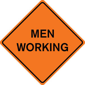 "36"" x 36"" Mesh Sign, ""MEN WORKING"""
