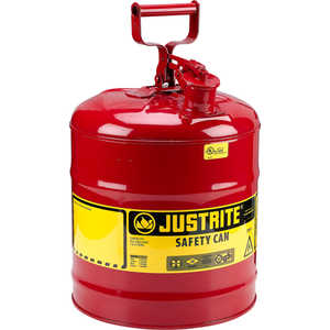 Justrite Type I Safety Can, Five-Gallon Gasoline Can