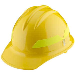 Yellow Cap, Model FH911C Bullard Wildland Fire Helmet with Self Sizing 6-Point Suspension