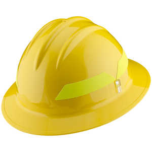 Yellow Hat, Model FH911H Bullard Wildland Fire Helmet with Self Sizing 6-Point Suspension