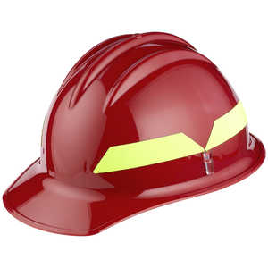 Red Cap, Model FH911C Bullard Wildland Fire Helmet with Self Sizing 6-Point Suspension