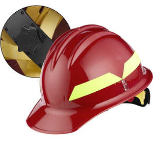 Red Cap, Bullard Wildland Fire Helmet with Ratchet Suspension
