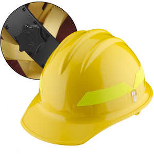 Yellow Cap, Bullard Wildland Fire Helmet with Ratchet Suspension