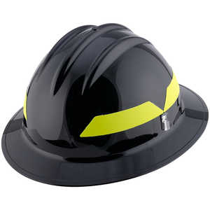 Black Hat, Model FH911H Bullard Wildland Fire Helmet with Self Sizing 6-Point Suspension