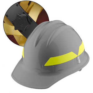 Grey Cap, Bullard Wildland Fire Helmet with Ratchet Suspension