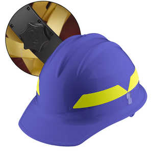 Blue Cap, Bullard Wildland Fire Helmet with Ratchet Suspension