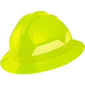 Lime Yellow Hat, Model FH911H Bullard Wildland Fire Helmet with Self Sizing 6-Point Suspension
