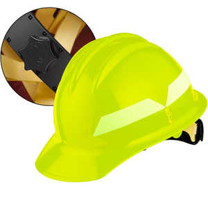 Lime Cap, Bullard Wildland Fire Helmet with Ratchet Suspension