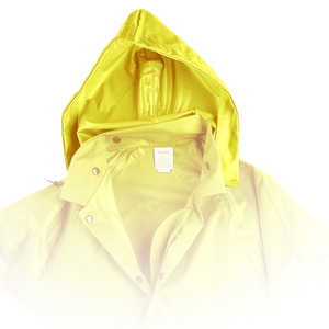 Air-Weave Industrial Rain Jacket Optional Hood, Yellow