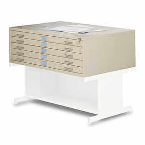 "Safco 5-Drawer Steel Flat File for 36"" x 48"" Documents"
