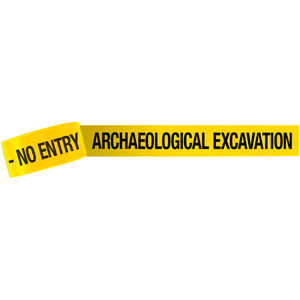 "3-Inch ""ARCHAEOLOGICAL EXCAVATION - NO ENTRY"" Barricade Tape, 1,000´ Roll"