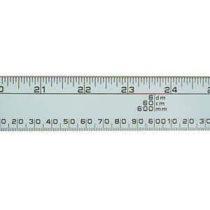 "Aluminum Metric-English Meter Stick, 3'2""L"