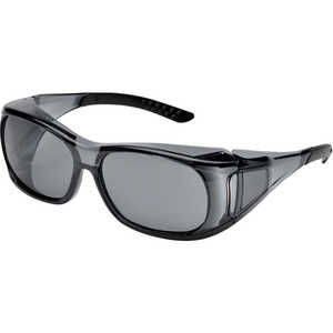 Elvex OVR-Spec II Safety Glasses, Gray Lens