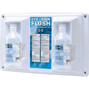 Two 16 oz. Bottles Emergency Eye Flush Wall Station