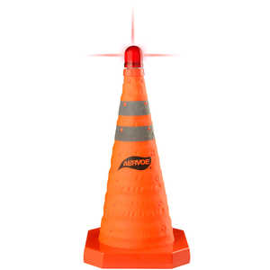 "Aervoe Collapsible Traffic Cone, 18""H"
