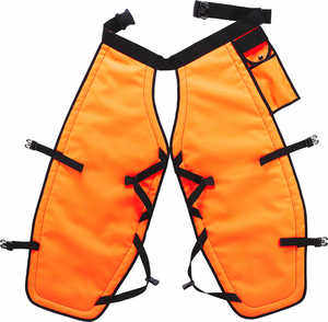 "PGI 5-Ply Para-Aramid Chain Saw Chaps, Orange, 32""L"