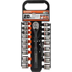 Crescent 20-Piece SAE/Metric 3/8˝ Socket Set