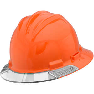 Bullard AboveView Hard Hat, Orange Hat with Clear Visor