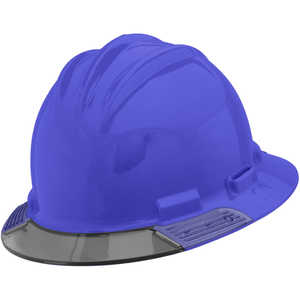 Bullard AboveView Hard Hat, Blue Hat with Grey Visor