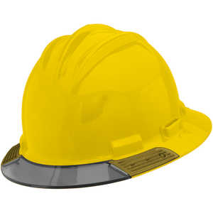 Bullard AboveView Hard Hat, Yellow Hat with Grey Visor