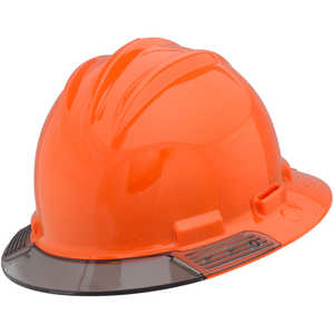 Bullard AboveView Hard Hat, Orange Hat with Grey Visor