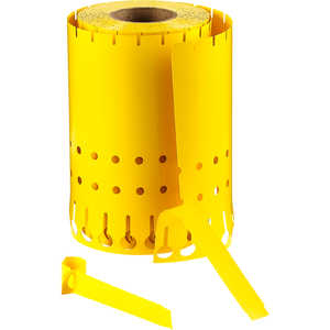 Utility Slip-On Tags, Roll of 1000, Yellow