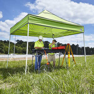 E-Z UP Hi-Viz Utility Instant Shelter, 10' x 10', Bright Green