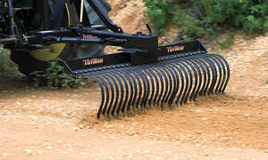 Tufline 3-Point Landscape Rake, 5'