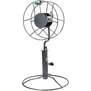 Yard Butler Free Standing Swivel Hose Reel with Patio Base Mount