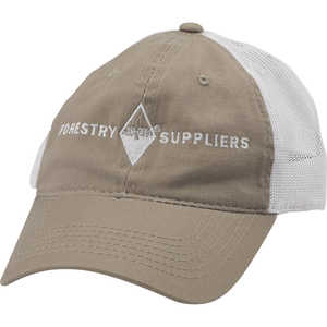 Forestry Suppliers Field Cap, Khaki/White Mesh with White Logo