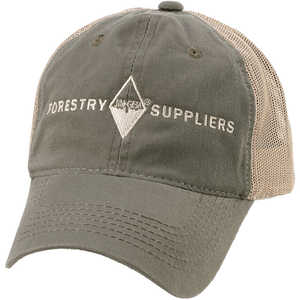 Forestry Suppliers Field Cap, Olive/Tan Mesh with Tan Logo