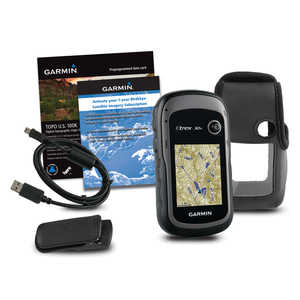 Garmin eTrex 30x Bundle with TOPO U.S. 100K