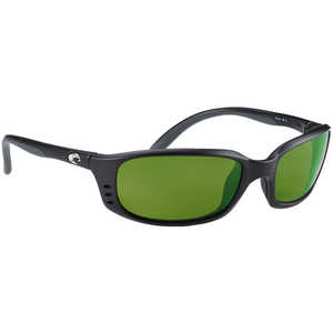 Costa Brine Sunglasses, Black Matte Frame with 580G Green Mirror Lens