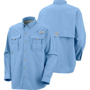 Columbia Bahama II Long Sleeve Shirt, Sail, Small