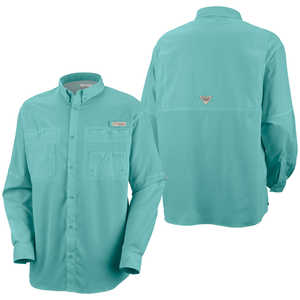 Columbia Tamiami II Long Sleeve Shirt, Gulf Stream, XX-Large