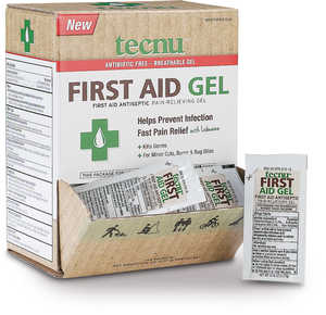 Tecnu First Aid Gel, 144 Count Dispenser, 1/16 oz. Packets