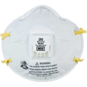 3M 8210V N95 Particulate Respirator with Cool Flow Valve, Box of 10