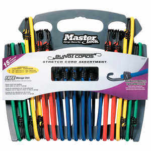 Master Lock Bungee Cords, 15-Count Assortment