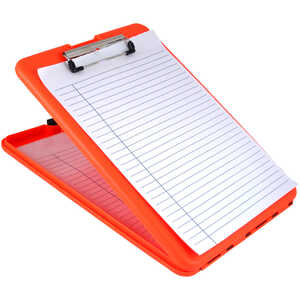 Saunders SlimMate Clipboard, 9 x 12, Orange