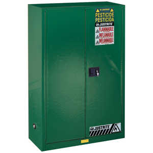 Justrite Pesticide Safety Storage Cabinet, 60-Gallon Capacity
