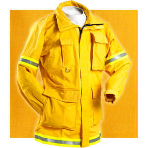 "FireLine 6 oz. Nomex IIIA Firefighting Coat, XX-Large 50""-52"" Chest"